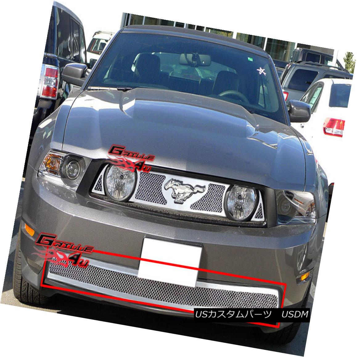 グリル 2010-2012 Ford Mustang GT V8 Bumper Stainless Steel Mesh Grille Grill Insert 2010-2012フォードマスタングGT V8バンパーステンレスメッシュグリルグリルインサート