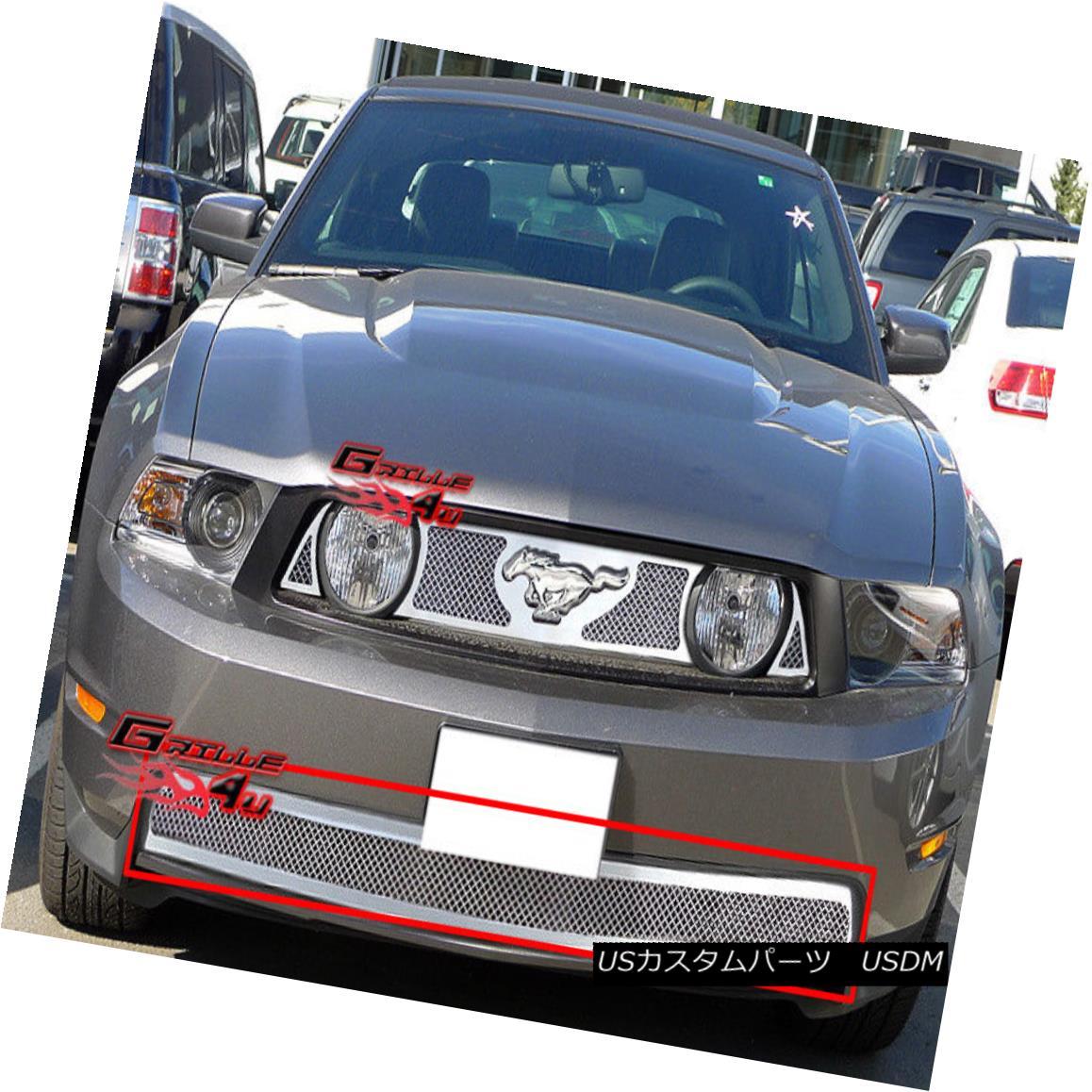 グリル 2010-2012 Ford Mustang GT V8 Bumper Stainless Steel Mesh Grille Grill Insert 2010-2012フォードマスタングGT V8バンパーステンレスメッシュグリルグリルインサート