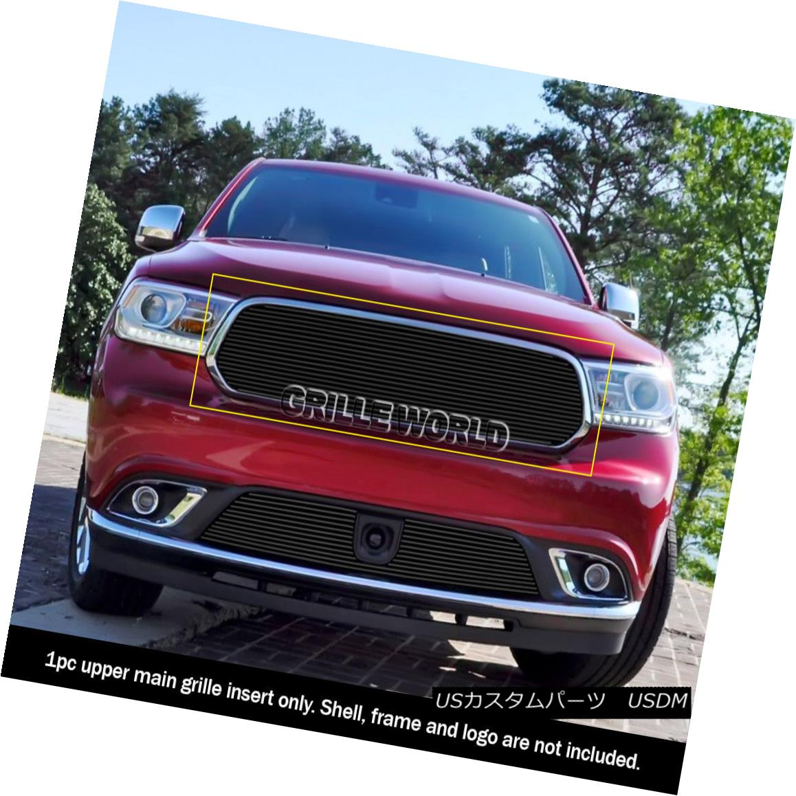 グリル Fits 2014-2018 Dodge Durango Upper Black Billet Grille Insert 2014-2018 Dodge Durangoアッパーブラックビレットグリルインサート