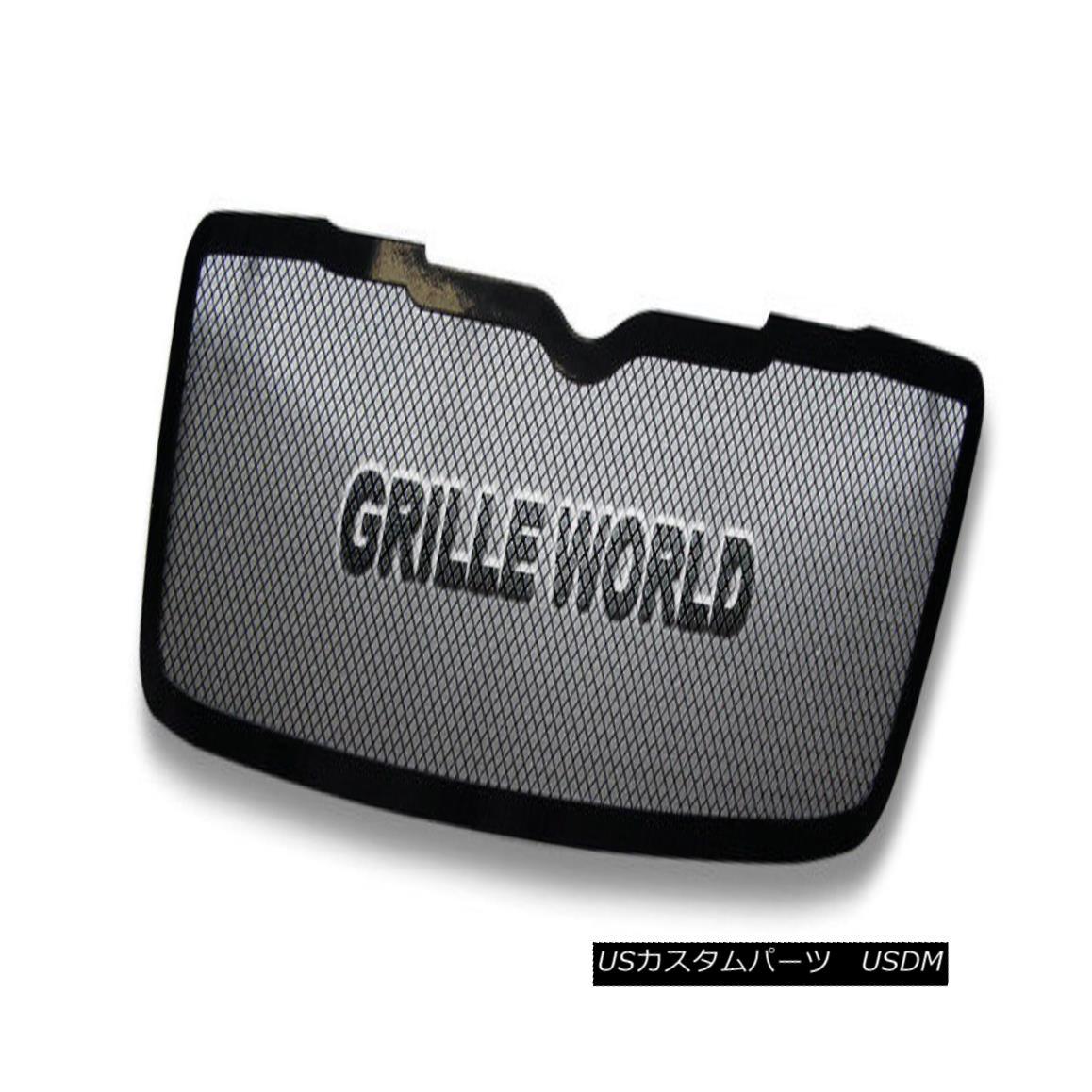グリル For 07-09 Chrysler Aspen Black Stainless Steel Mesh Premium Grille Insert 07-09クライスラーアスペンブラックステンレスメッシュプレミアムグリルインサート