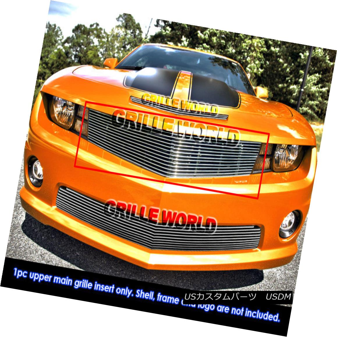 グリル For 10-2011 Chevy Camaro LT/ LS/ RS/SS Short Billet Grille 10-2011シボレーカマロLT / LS / RS / SSショートビレットグリル