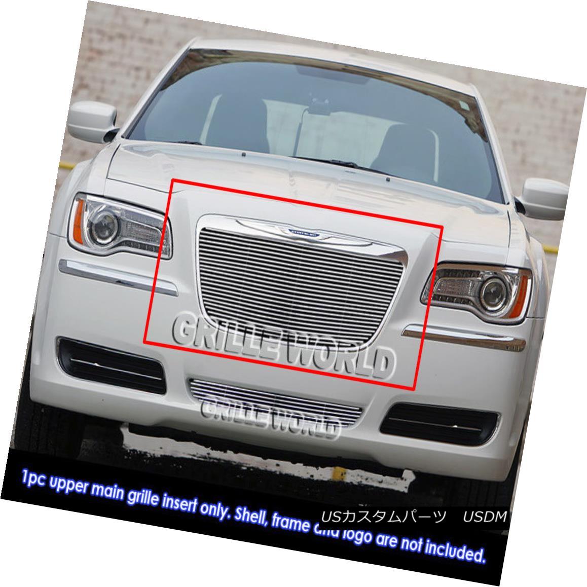 グリル For 2011-2014 Chrysler 300/300C Billet Grille Grill Insert 2011-2014クライスラー300 / 300Cビレットグリルグリルインサート用