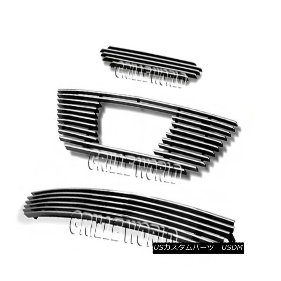 グリル For 99-04 Ford Mustang V6 Billet Premium Grille Grill Combo Insert 99-04フォードマスタングV6ビレットプレミアムグリルグリルコンボインサート用