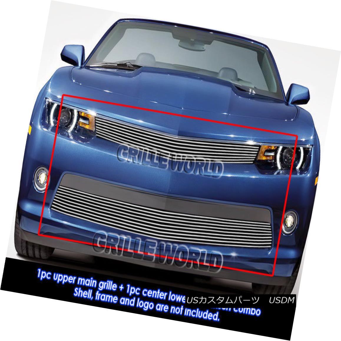 グリル For 2014-2015 Chevy Camaro LT Billet Grill Insert Combo 2014-2015シボレーカマロLTビレットグリルインサートコンボ用