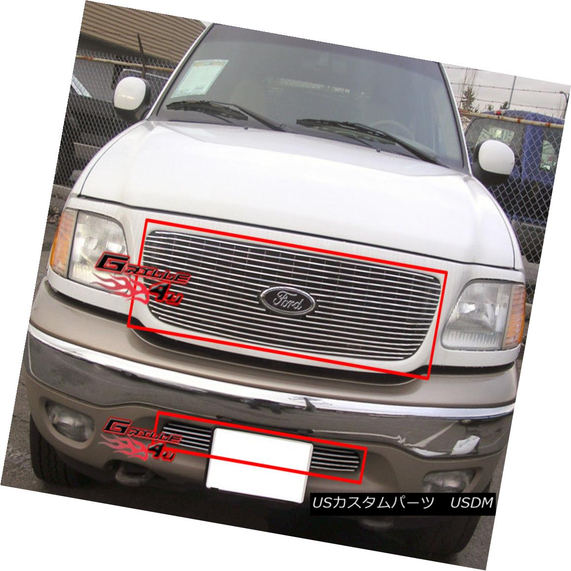 グリル For 99-02 Ford Expedition 4WD Billet Grille Combo Insert 99-02 Ford Expedition 4WDビレットグリルコンボインサート