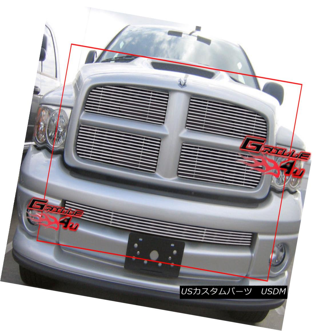 グリル For 02-05 Dodge Ram Sport Billet Grille Combo Insert 02-05 Dodge Ram Sportビレットグリルコンボインサート