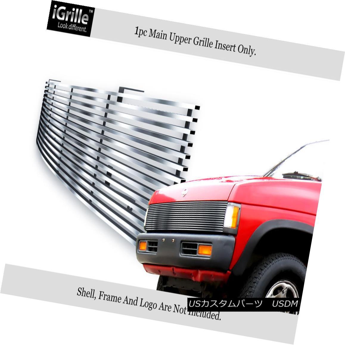 グリル Fits 86-97 Nissan Pickup Phantom Stainless Steel Billet Grille Insert フィット86-97日産ピックアップファントムステンレス鋼ビレットグリルインサート