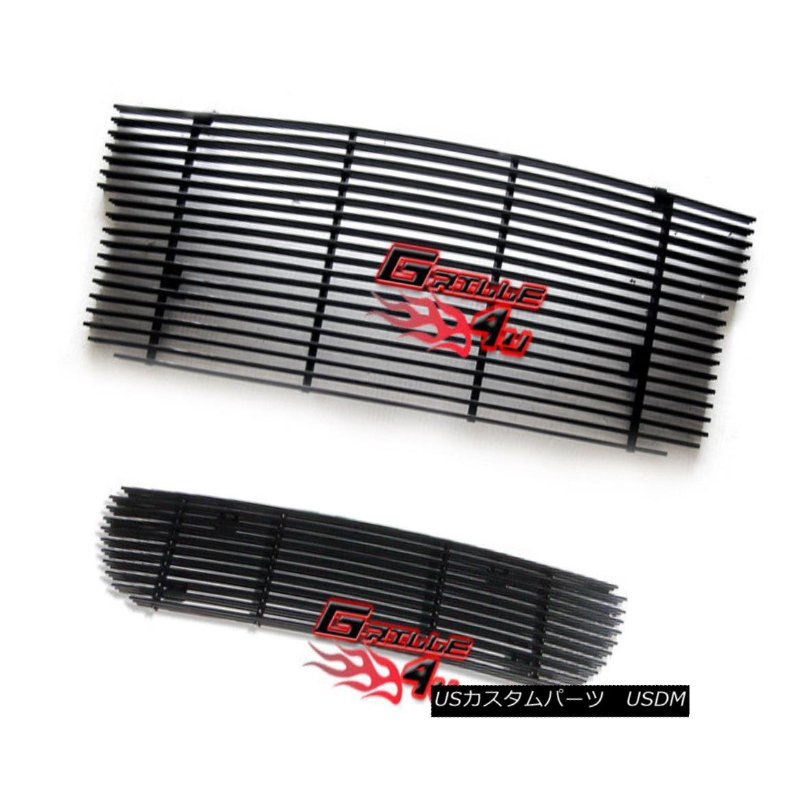 グリル For 99-03 Ford F-150 Lightning Black Billet Premium Grille Combo 99-03フォードF-150ライトニングブラックビレットプレミアムグリルコンボ用