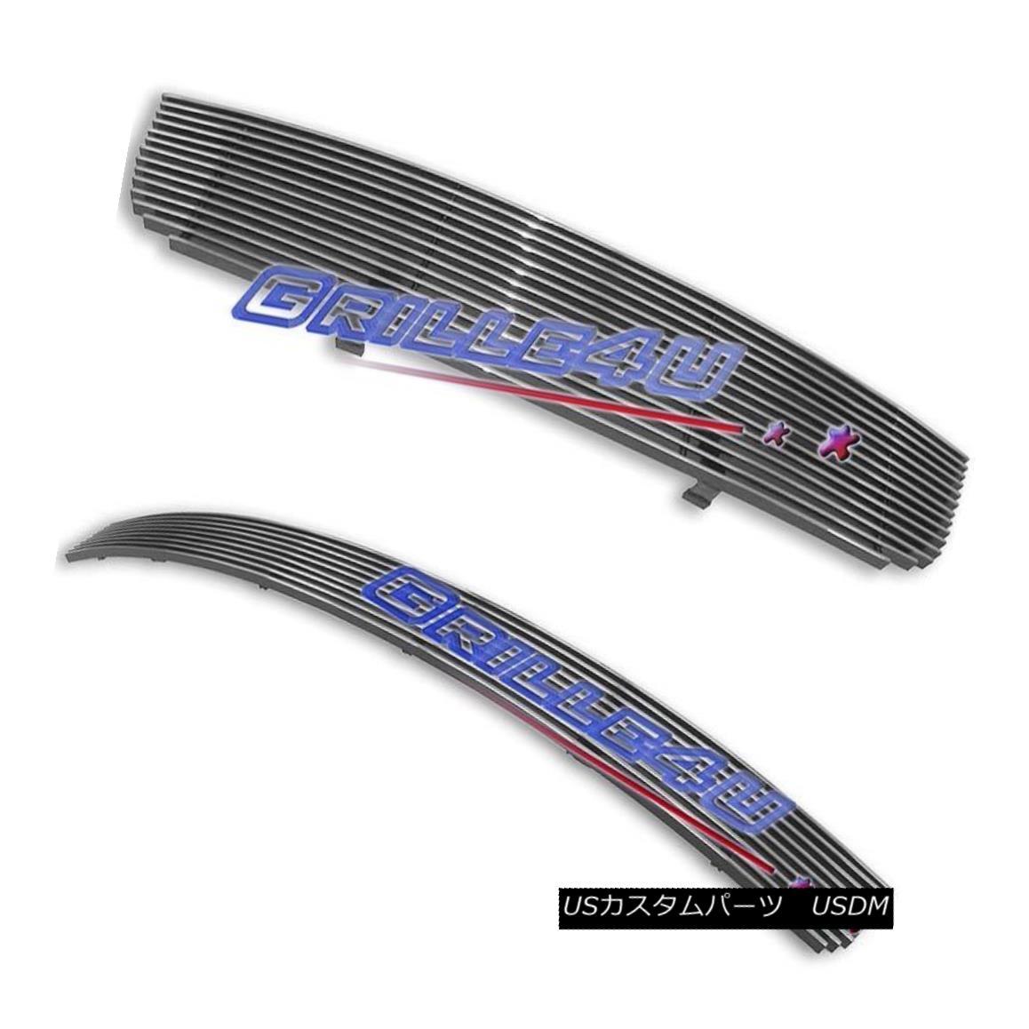 グリル Customized For 04-06 Nissan Sentra Billet Premium Grille Combo Insert 日産セントラビレットプレミアムグリルコンボインサート