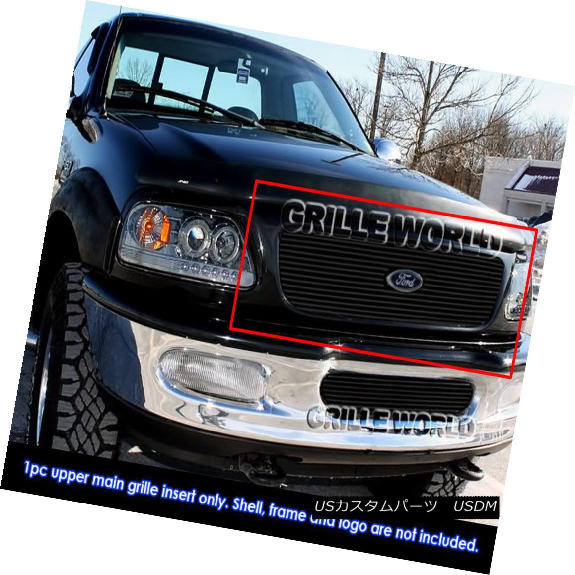 グリル For 1997-1998 Ford Expedition Black Billet Grille Grill Insert 1997-1998 Ford Expeditionブラックビレットグリルグリルインサート