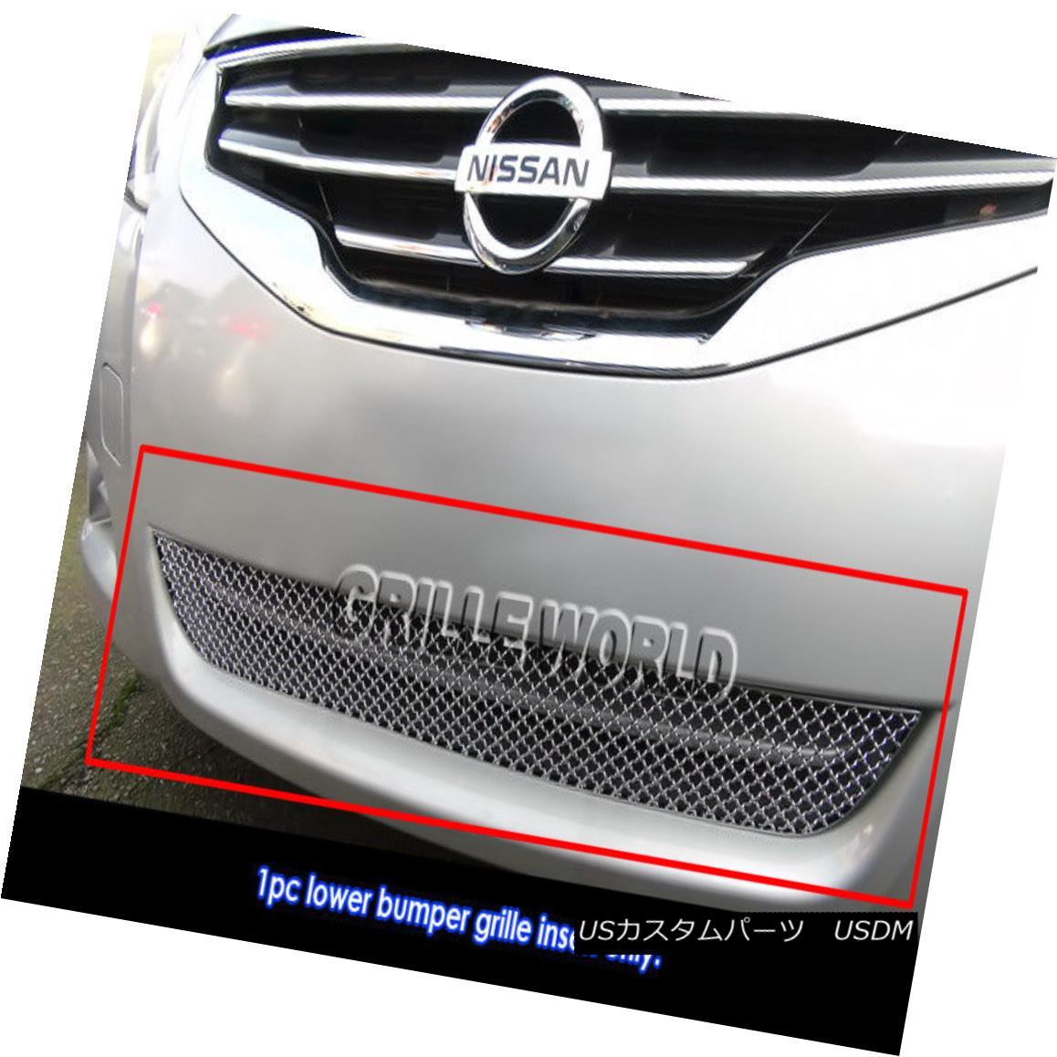 グリル Fits 2010-2012 Nissan Altima Sedan Bumper X-mesh Grille Insert フィット2010-2012日産アルティマセダンバンパーXメッシュグリルインサート