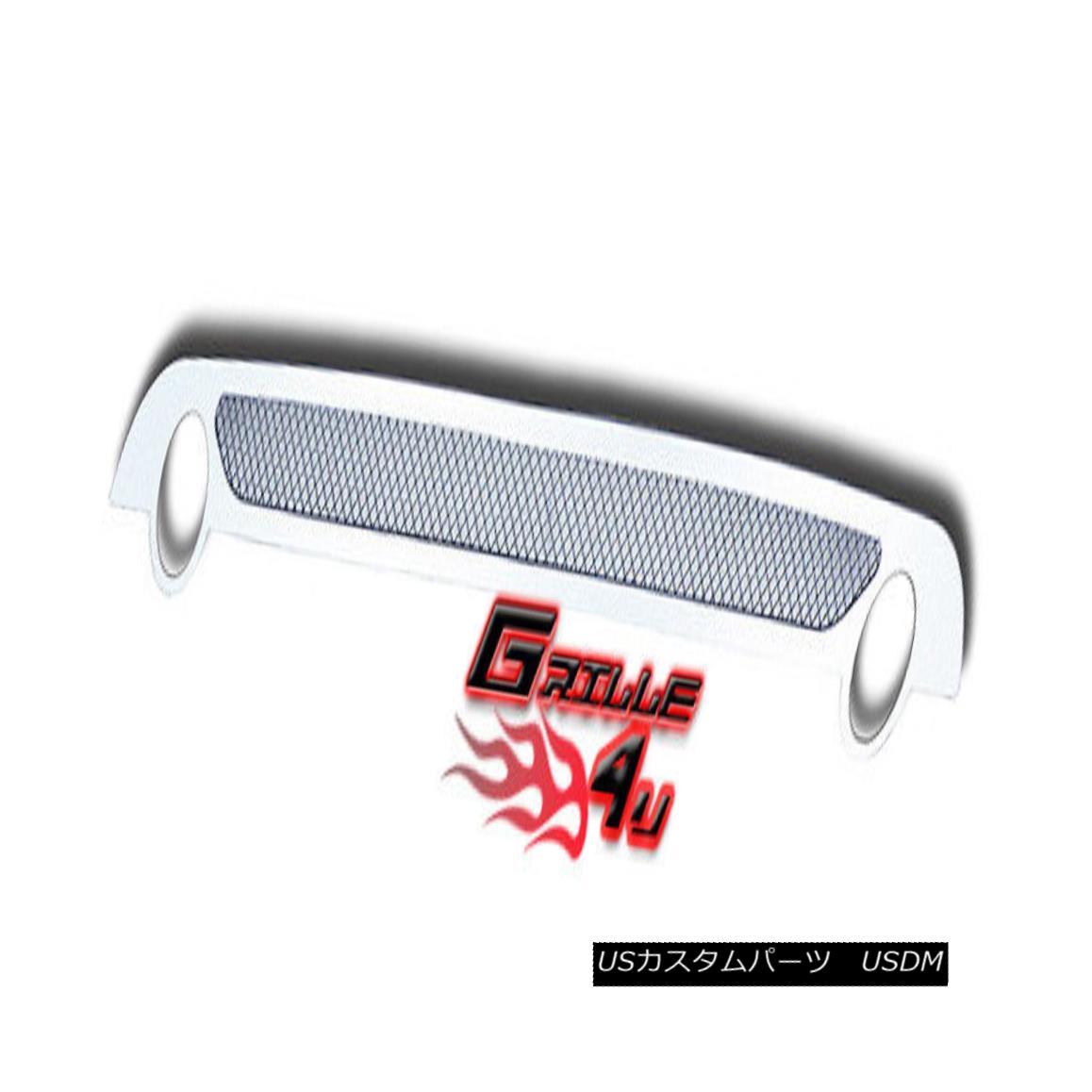 グリル Customized For 07-10 Saab 9-7X Bumper Stainless Mesh Premium Grille Insert 07-10 Saab 9-7Xバンパーステンレスメッシュプレミアムグリルインサート用にカスタマイズ