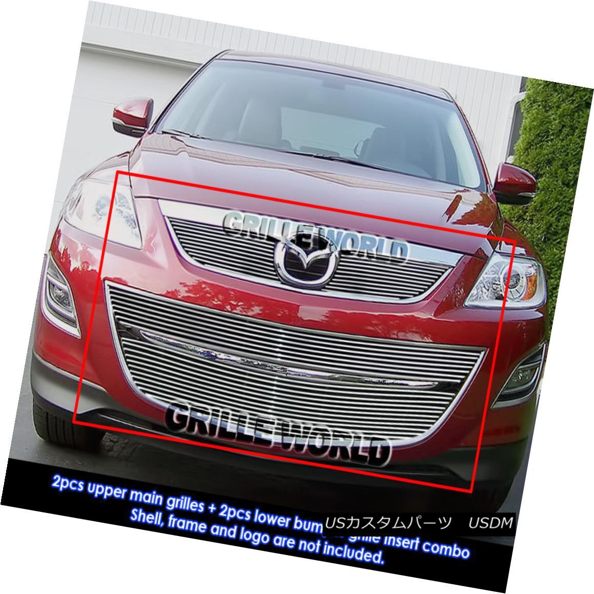 グリル For 2010-2011 Mazda CX-9 Billet Grille Insert Combo 2010-2011マツダCX-9ビレットグリルインサートコンボ用
