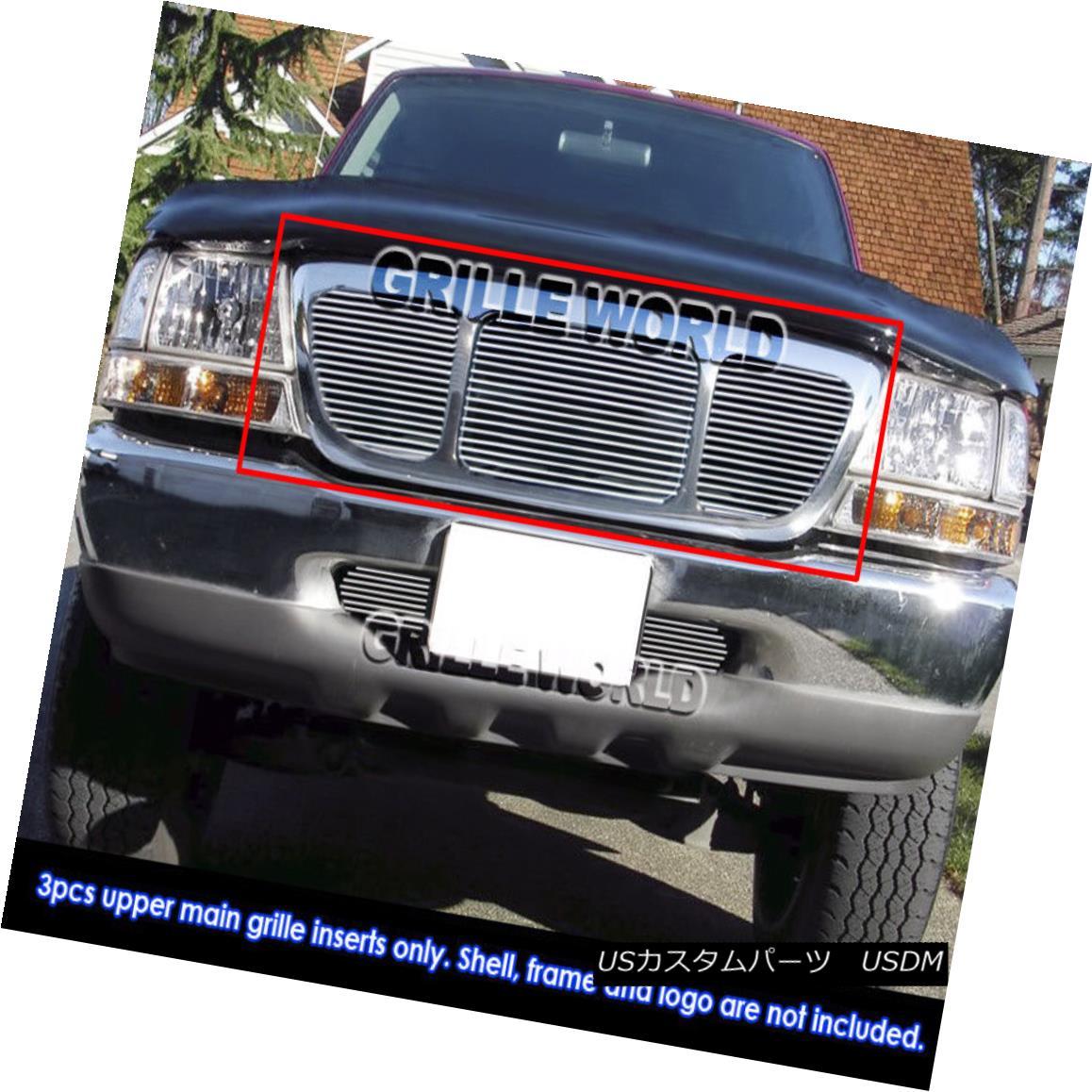 グリル For 98-2000 Ford Ranger 4WD Billet Grille Insert 98-2000フォードレンジャー用4WDビレットグリルインサート