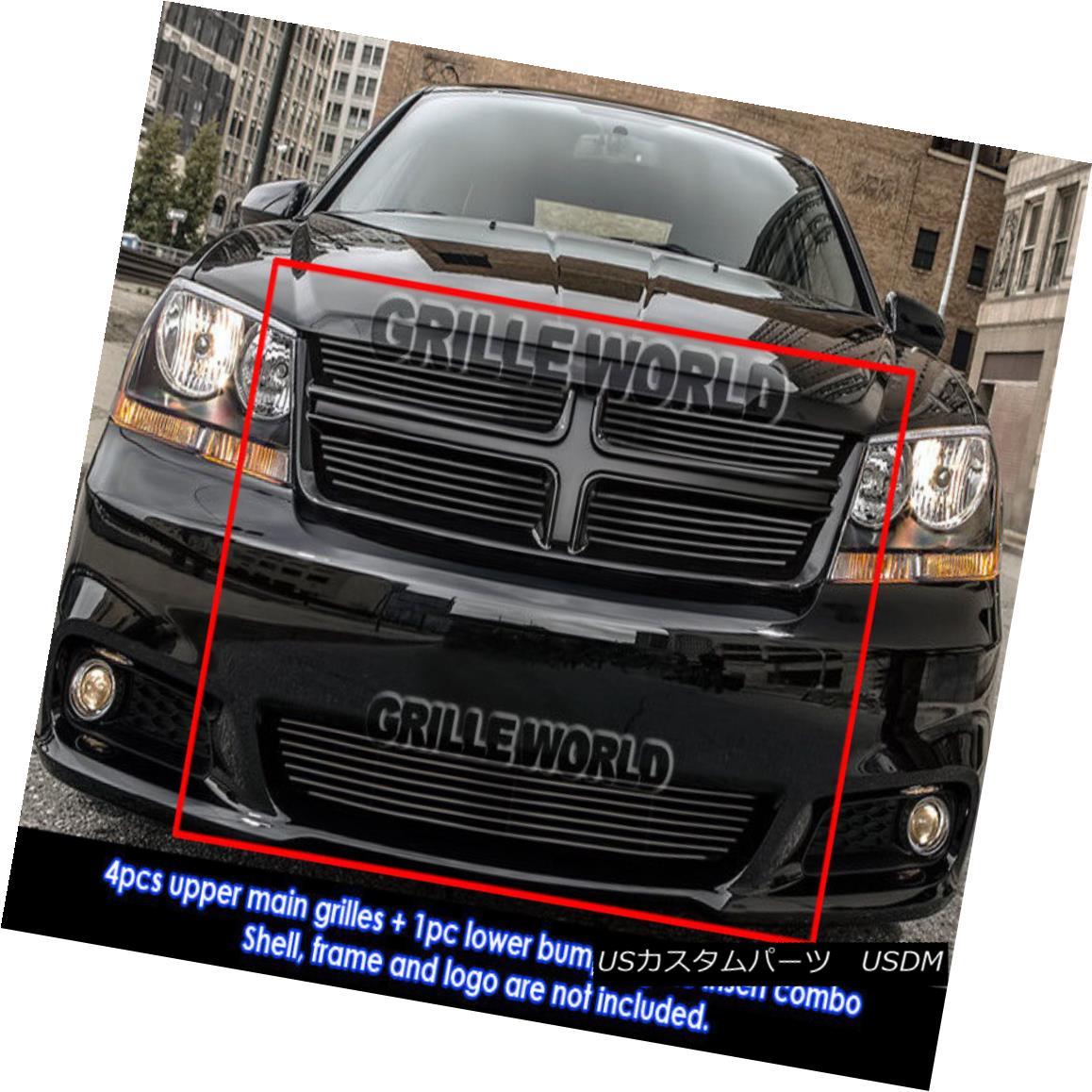 グリル Fits 2011-2014 Dodge Avenger Black Billet Grille Grill Combo Insert 2011-2014年に合うダッジアベンジャーブラックビレットグリルグリルコンボインサート