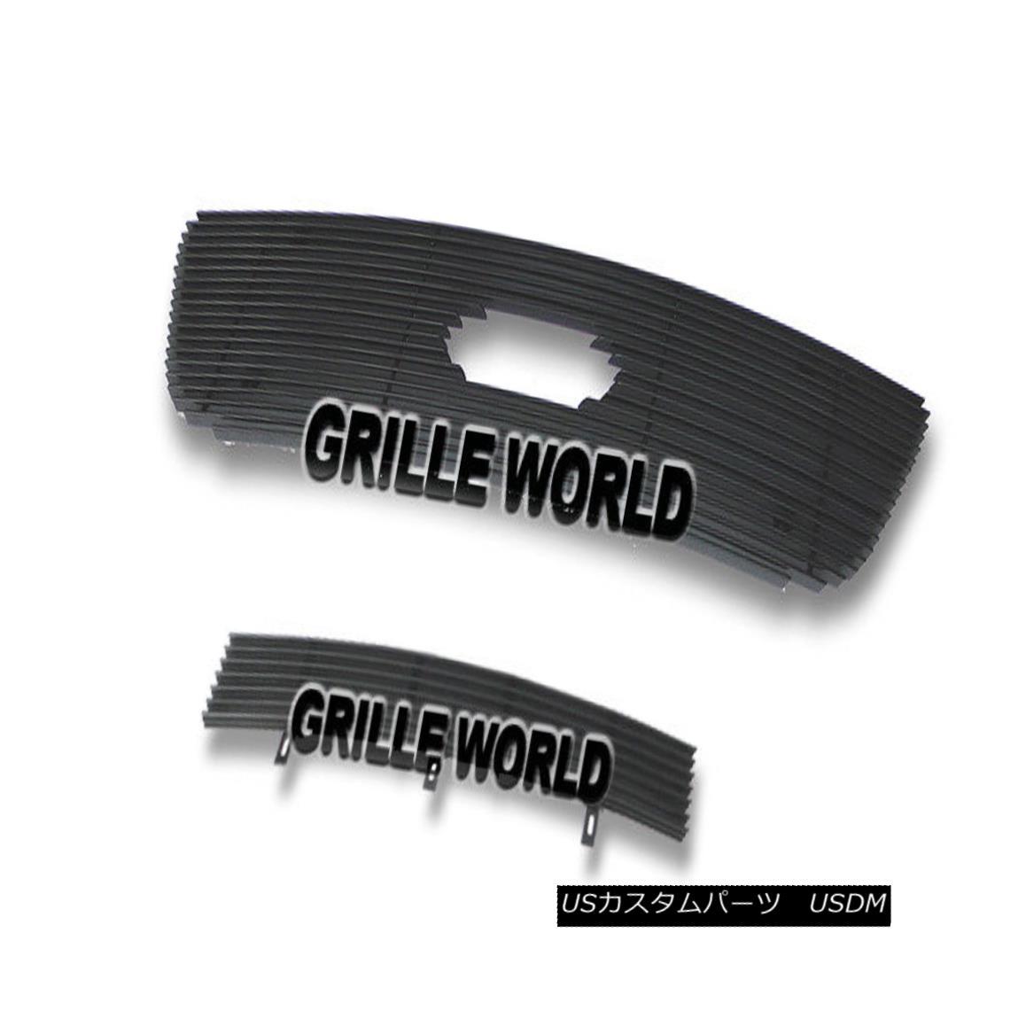 グリル For 01-03 F-150 Harley Davidson Black Billet Premium Grille Combo 01-03 F-150ハーレーダビッドソンブラックビレットプレミアムグリルコンボ用