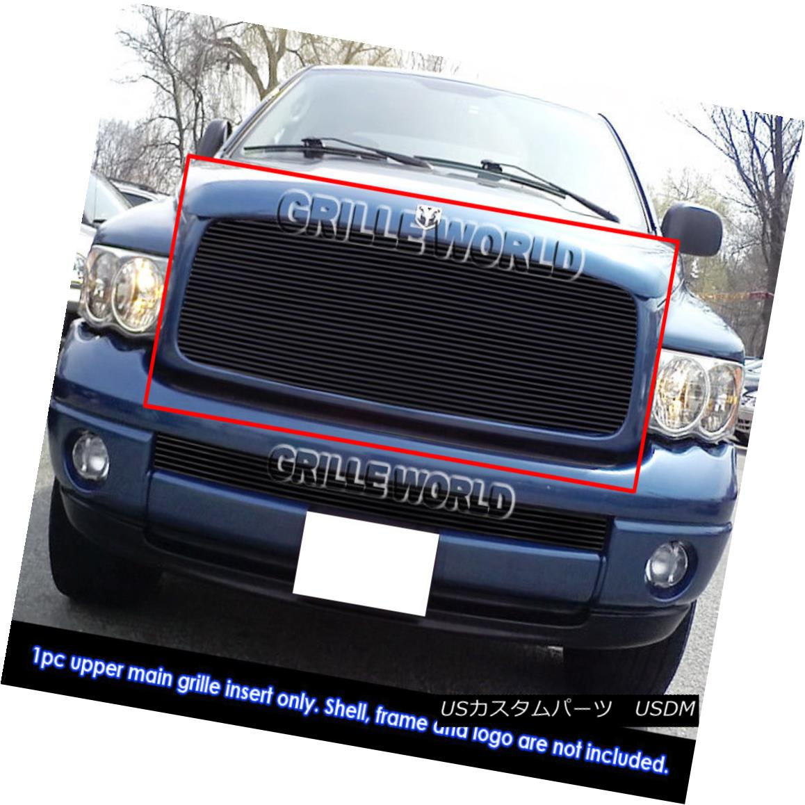 グリル For 02-05 Dodge Ram 1500/2500/3500 Black Billet Grille Insert 02-05 Dodge Ram 1500/2500/3500 Black Billet Grille Insert用