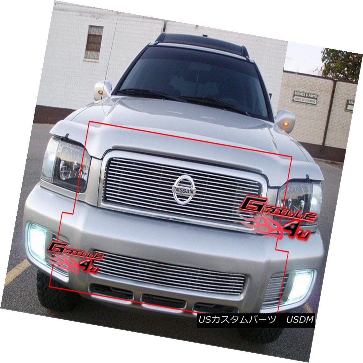 グリル For 00-01 Nissan Pathfinder Honeycomb Billet Grille Combo 00-01日産パスファインダーハニカムビレットグリルコンボ用
