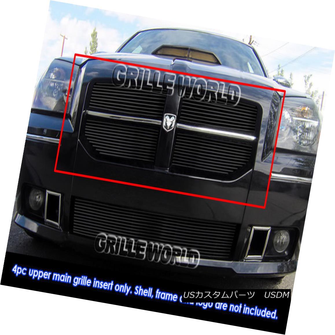 グリル Fits 2005-2007 Dodge Magnum SRT8 Black Billet Grille Grill Insert 2005-2007 Dodge Magnum SRT8 Black Billetグリルグリルインサート