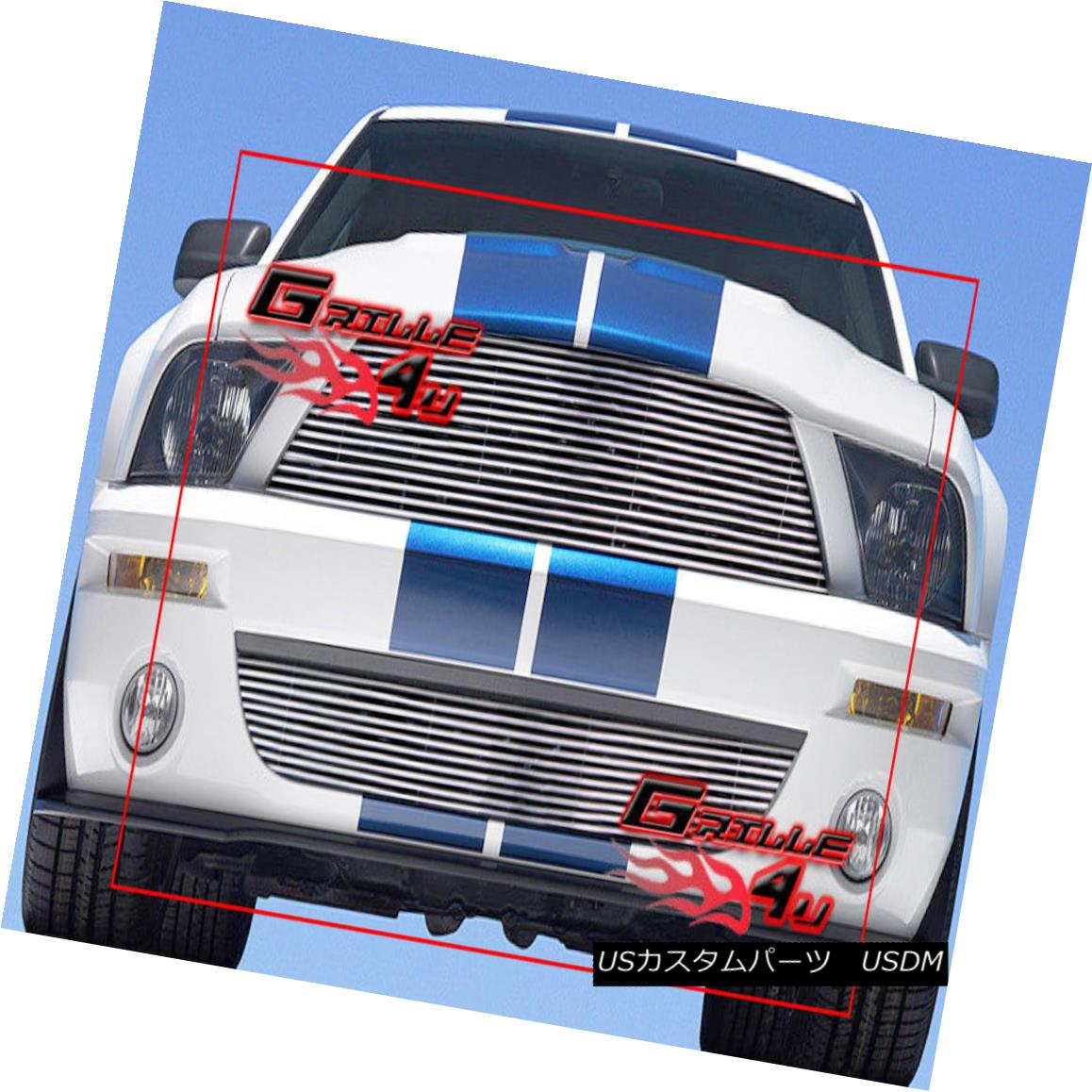 グリル For 07-09 Ford Mustang Shelby GT500 Billet Grille Combo 07-09 Ford Mustang Shelby GT500ビレットグリルコンボ用