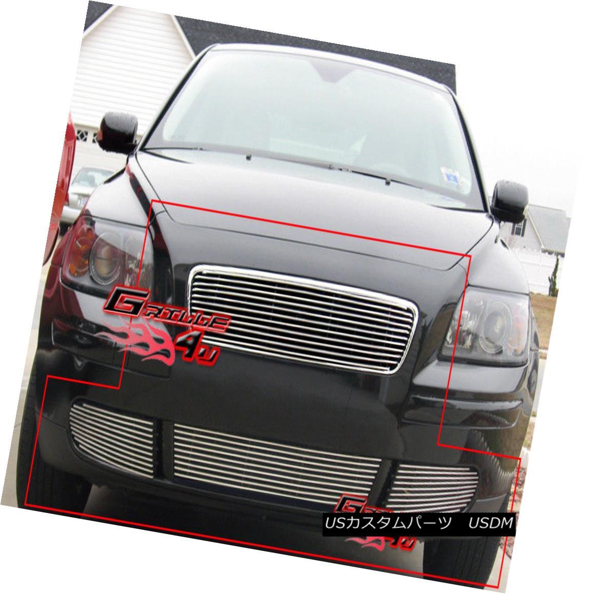 グリル For 05-06 Volvo V50/05-07 S40 Billet Grille Combo Insert 05-06用Volvo V50 / 05-07 S40ビレットグリルコンボインサート
