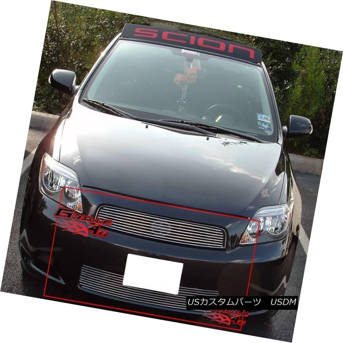 グリル For 2005-2010 Scion TC Billet Grille Grill Combo Insert 2005-2010シオンTCビレットグリルグリルコンボインサート用