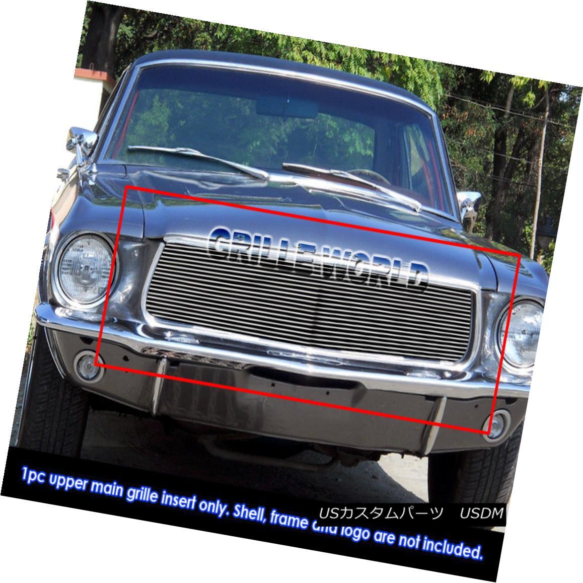 グリル For 1967-1968 Ford Mustang Billet Grille Grill Insert 1967-1968年フォードマスタングビレットグリルグリルインサート