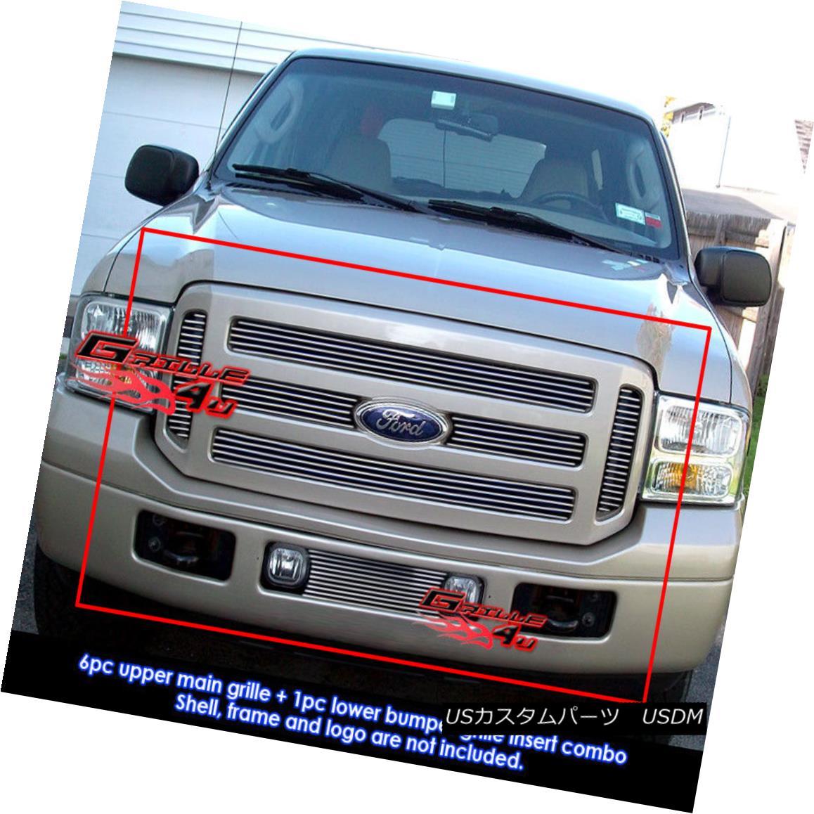 グリル For 05-07 Ford F-250/F-350 Super Duty Billet Grille Combo 05-07 Ford F-250 / F-350スーパーデューティービレットグリルコンボ用