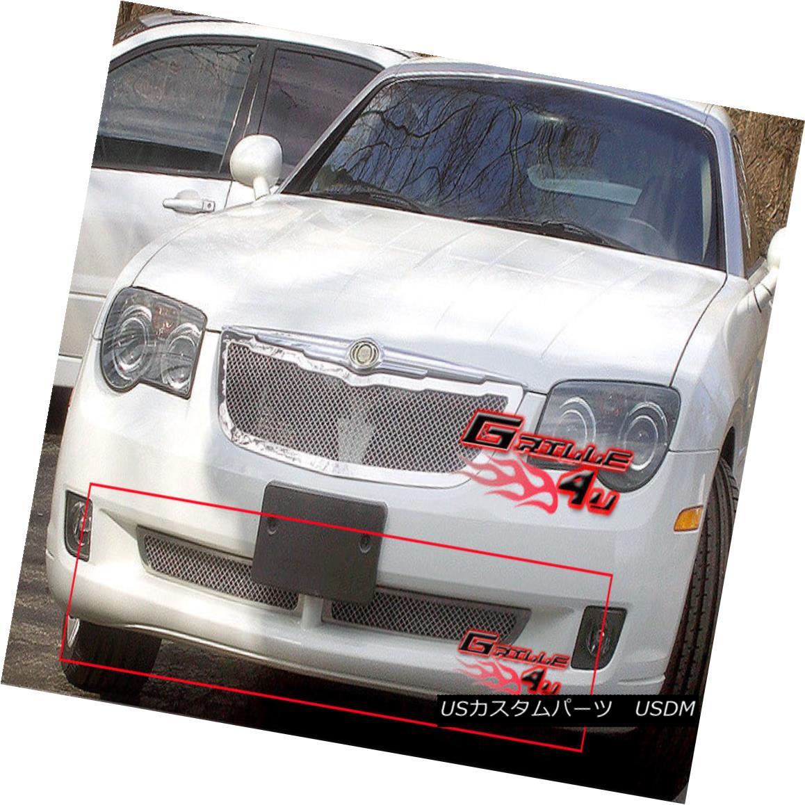 グリル For 04-08 Chrysler Crossfire Bumper Stainless Mesh Grille 04-08クライスラークロスファイアバンパーステンレスメッシュグリル