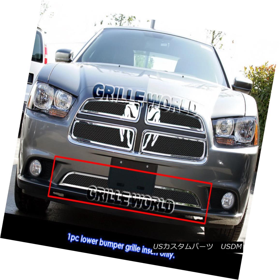 グリル For 2011-2014 Dodge Charger Stainless Steel Black Mesh Grille Insert 2011-2014年ダッジチャージャーステンレススチールブラックメッシュグリルインサート