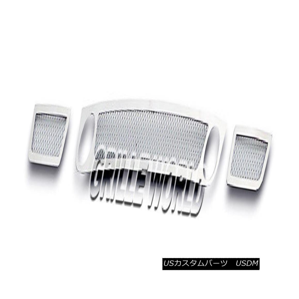 グリル For 06-09 Chevy Trailblazer SS Bumper Mesh Premium Grille Insert 06-09 Chevy Trailblazer SSバンパーメッシュプレミアムグリルインサート