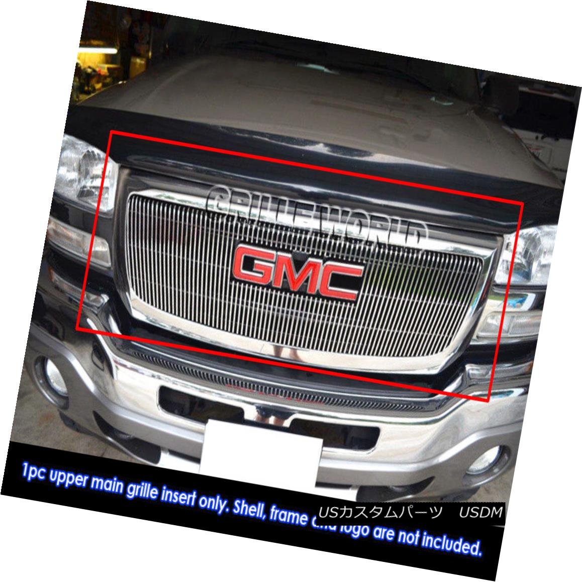 グリル For 03-06 GMC Sierra Pickup Vertical Billet Grille Grill Insert 03-06 GMC Sierra Pickup用縦型ビレットグリルグリルインサート