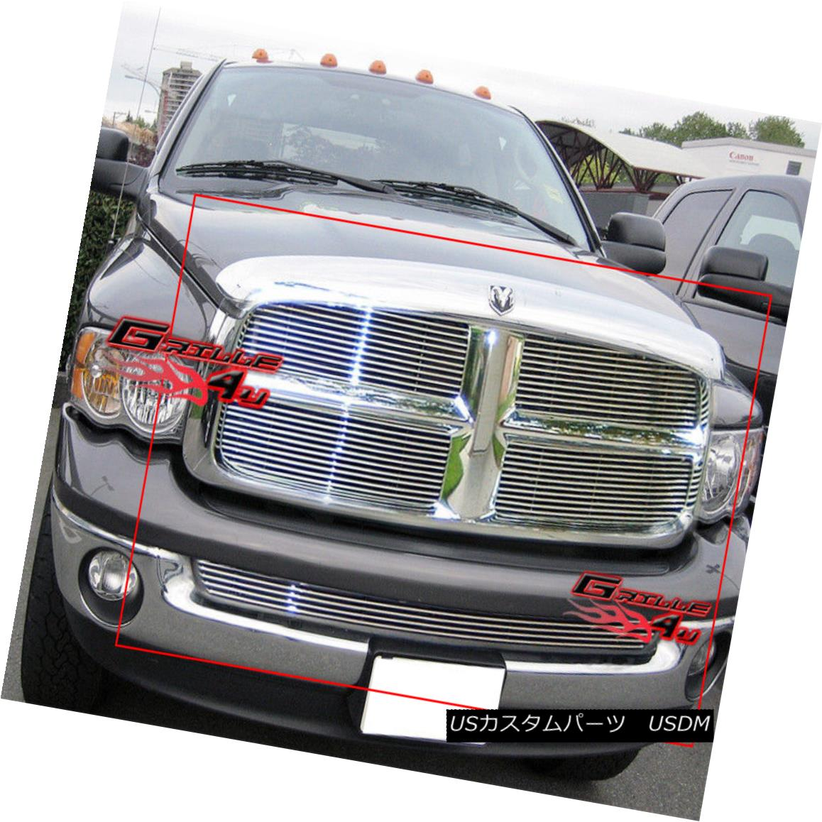 グリル For 02-05 Dodge Ram Billet Grille Combo Insert 02-05ダッジ・ラム・ビレット・グリル・コンボ・インサート