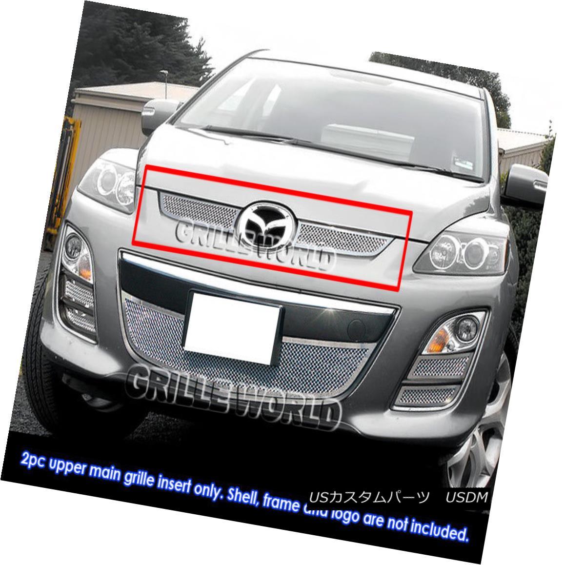 グリル For 2010-2012 Mazda CX7 i/CX-7 s Stainless Steel Mesh Grille Grill Insert 2010-2012マツダCX7 i / CX-7用ステンレスメッシュグリルグリルインサート