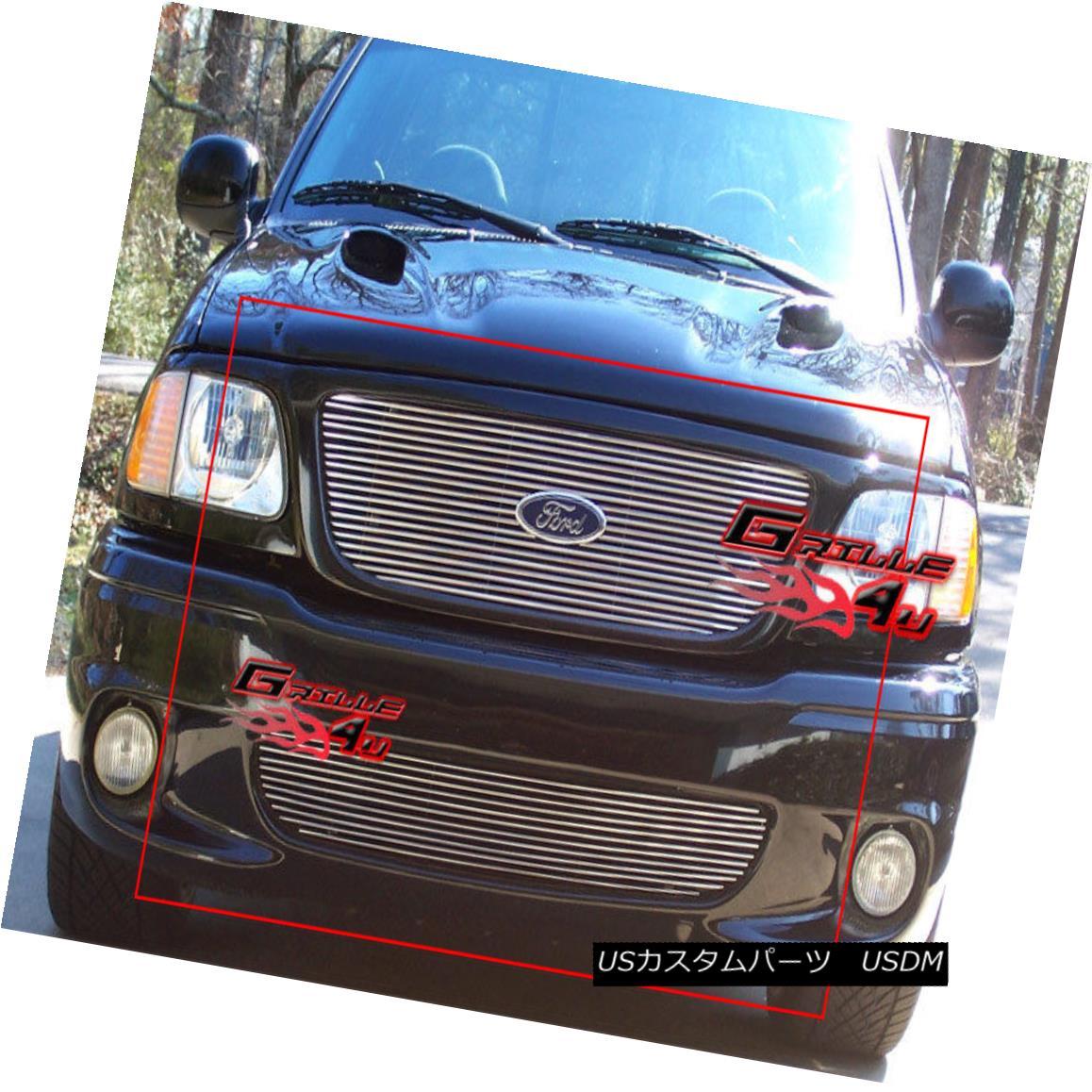 グリル For 99-03 Ford F-150 Lightning Billet Grille Combo Insert 99-03フォードF-150ライトニングビレットグリルコンボインサート用
