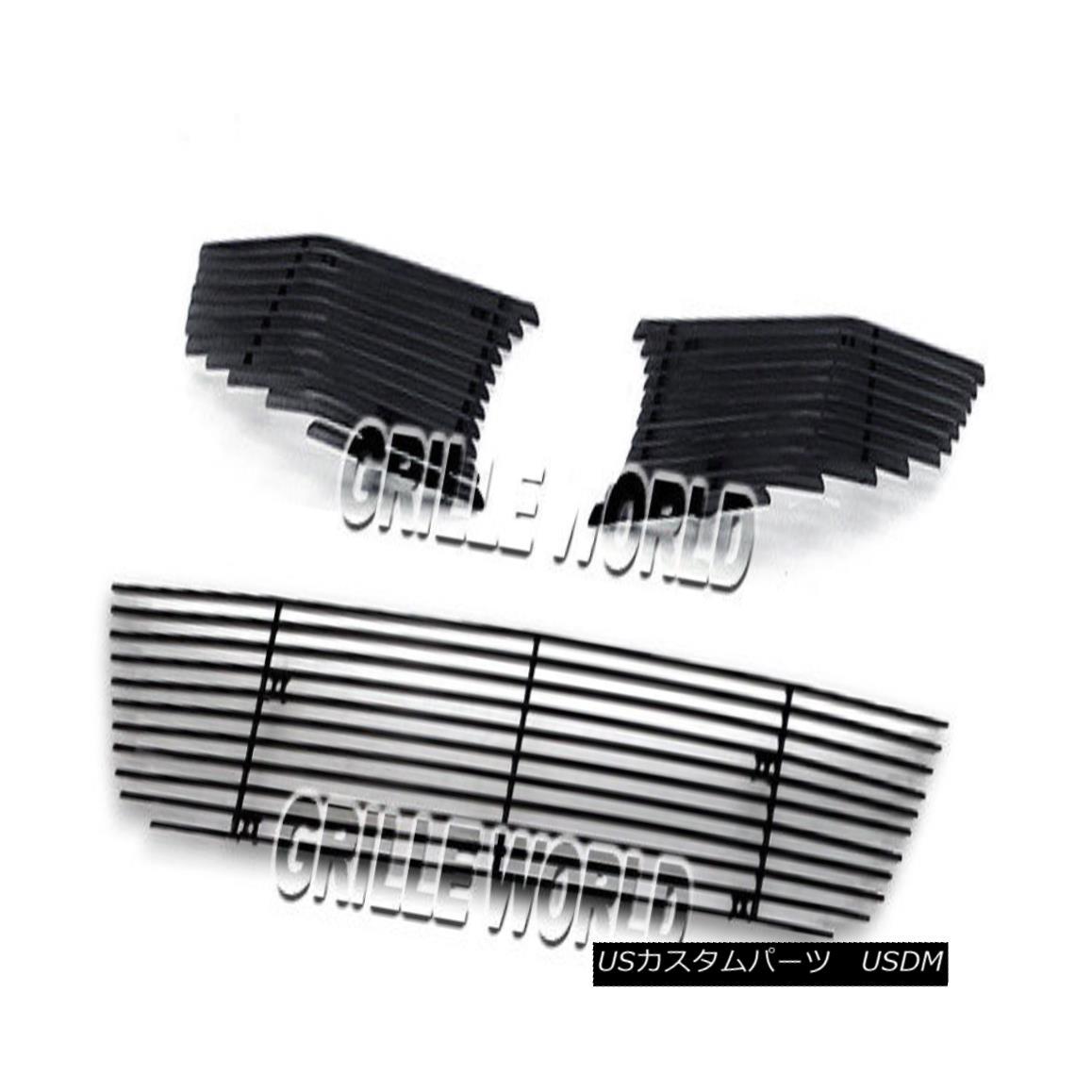 グリル For 2009-2011 Honda Civic Coupe Black Billet Premium Grille Grill Combo Insert ホンダシビッククーペブラックビレットプレミアムグリルグリルコンボインサート