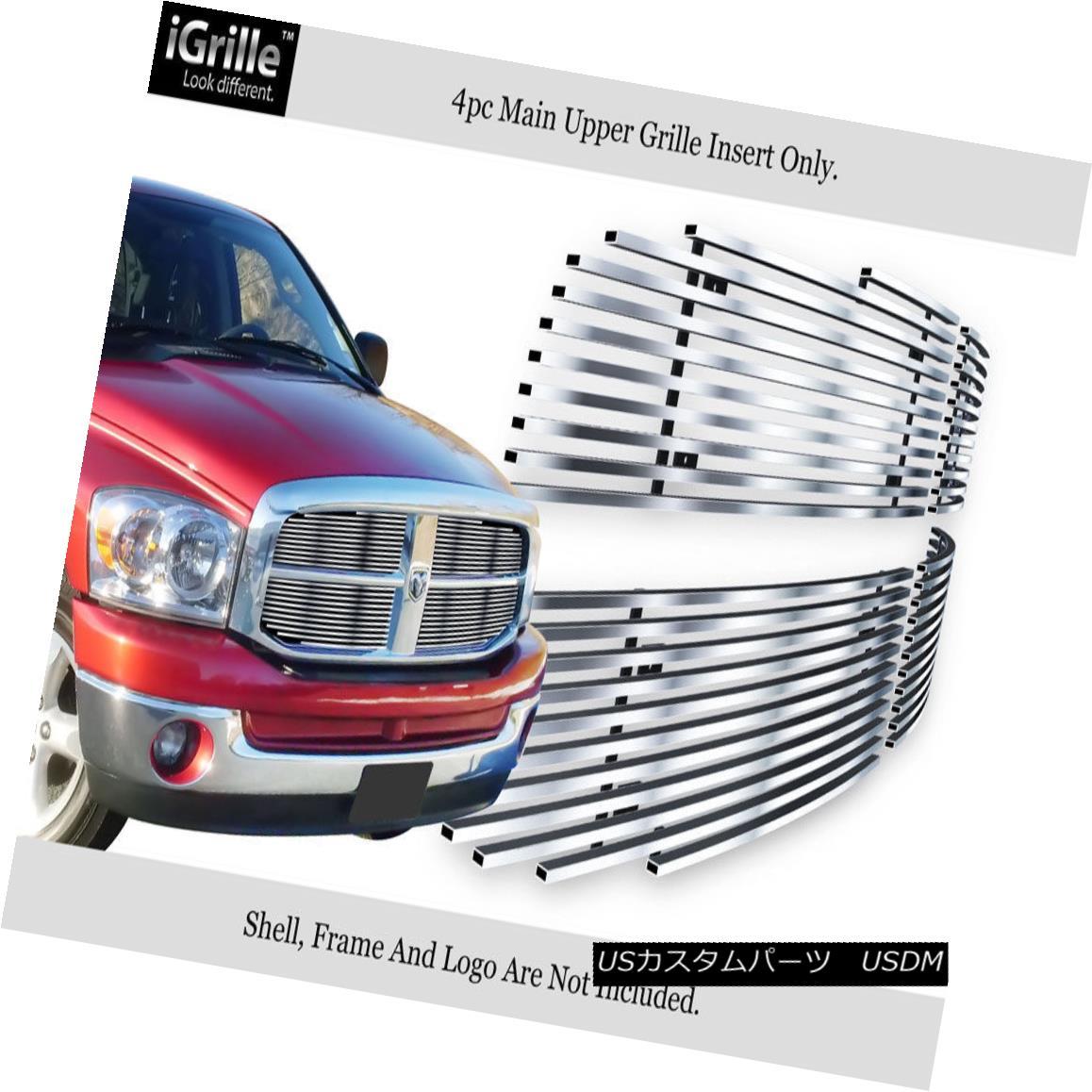 グリル For 06-08 Dodge Ram Stainless Steel Billet Grille Insert 06-08 Dodge Ramステンレス鋼ビレットグリルインサート