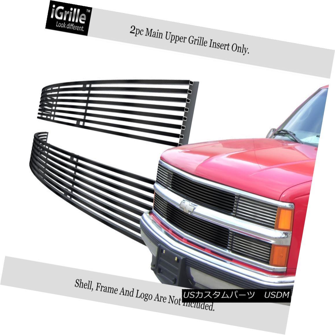 グリル 94-99 C/K Pickup/Suburban/Blazer/Tahoe Phantom Black Stainless Billet Grille 94-99 C / Kピックアップ/サブバー n /ブレイザー/タホファントムブラックステンレスビレットグリル
