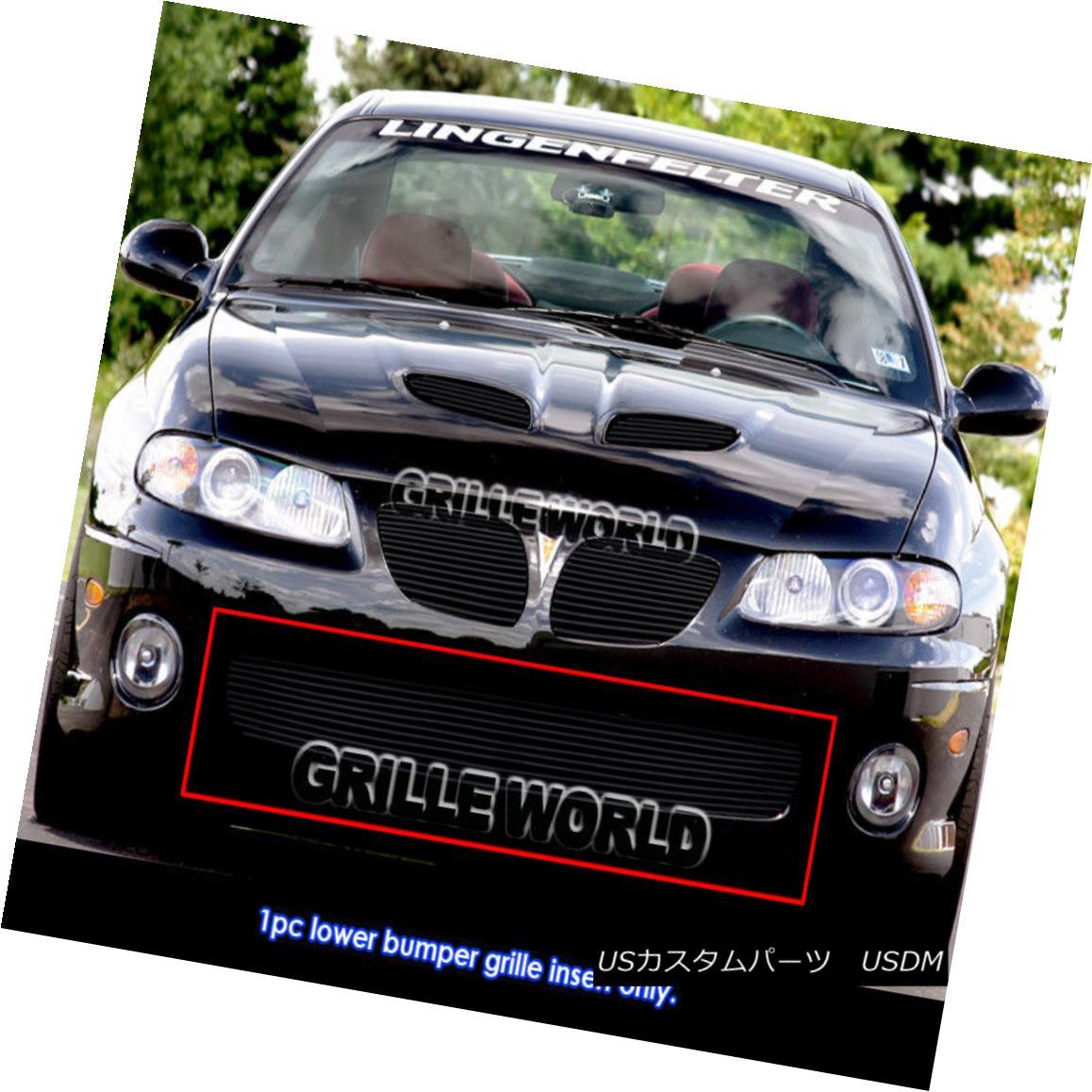 グリル For 04-06 Pontiac GTO Black Billet Grille Insert 04-06ポンティアックGTOブラックビレットグリルインサート