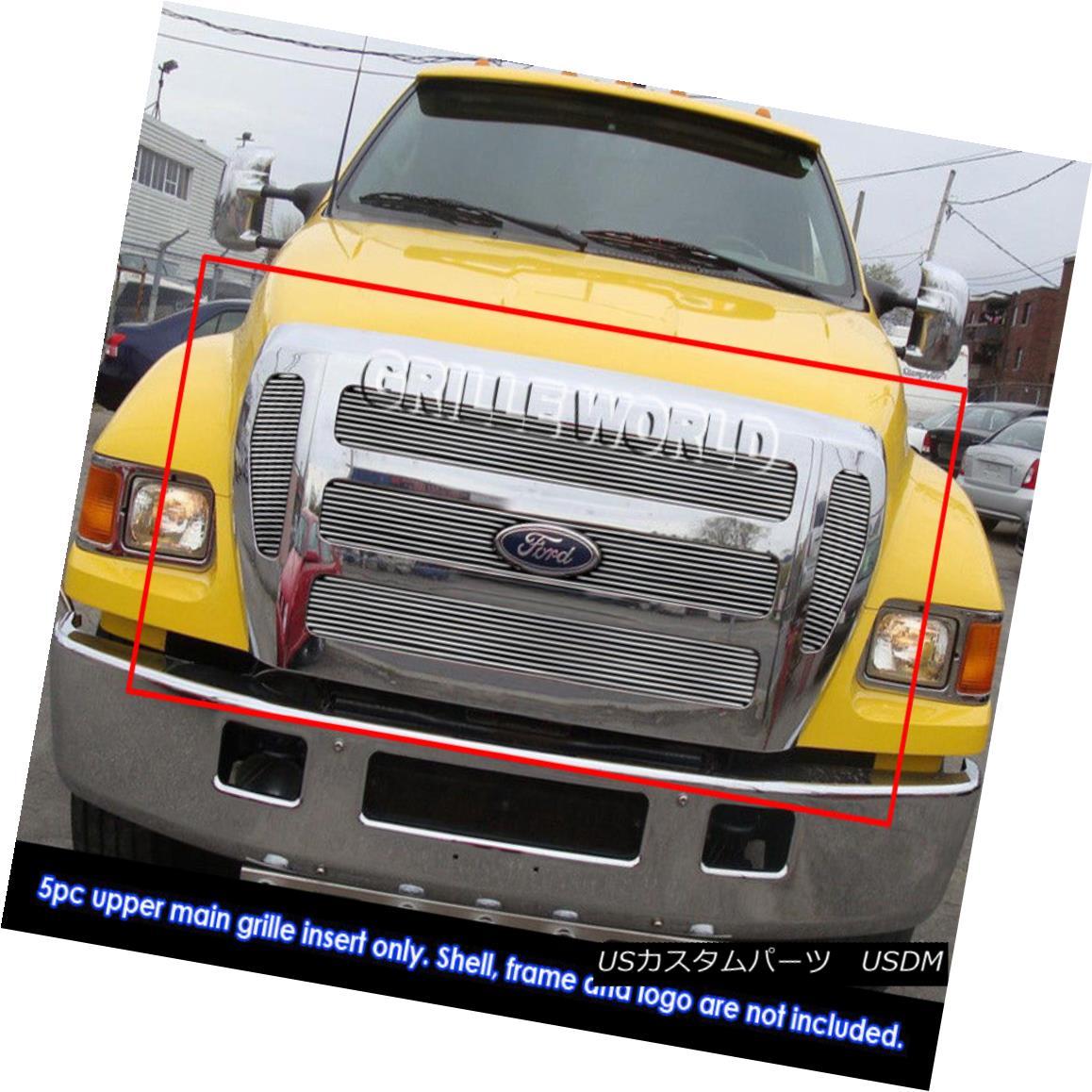 グリル 2004-2015 2013 2014 Ford F-650/F-750 Super Duty Work Truck Billet Grille Grill 2004-2015 2013 2014 Ford F-650 / F-750スーパーデューティーワークトラックビレットグリルグリル