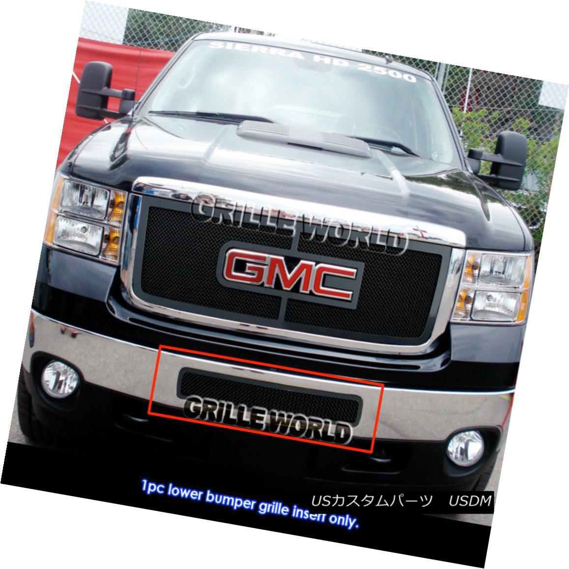 グリル For 2011-2014 GMC Sierra 2500/3500 HD Black Stainless Steel Mesh Premium Grill 2011-2014 GMC Sierra 2500/3500 HDブラックステンレススチールメッシュプレミアムグリル