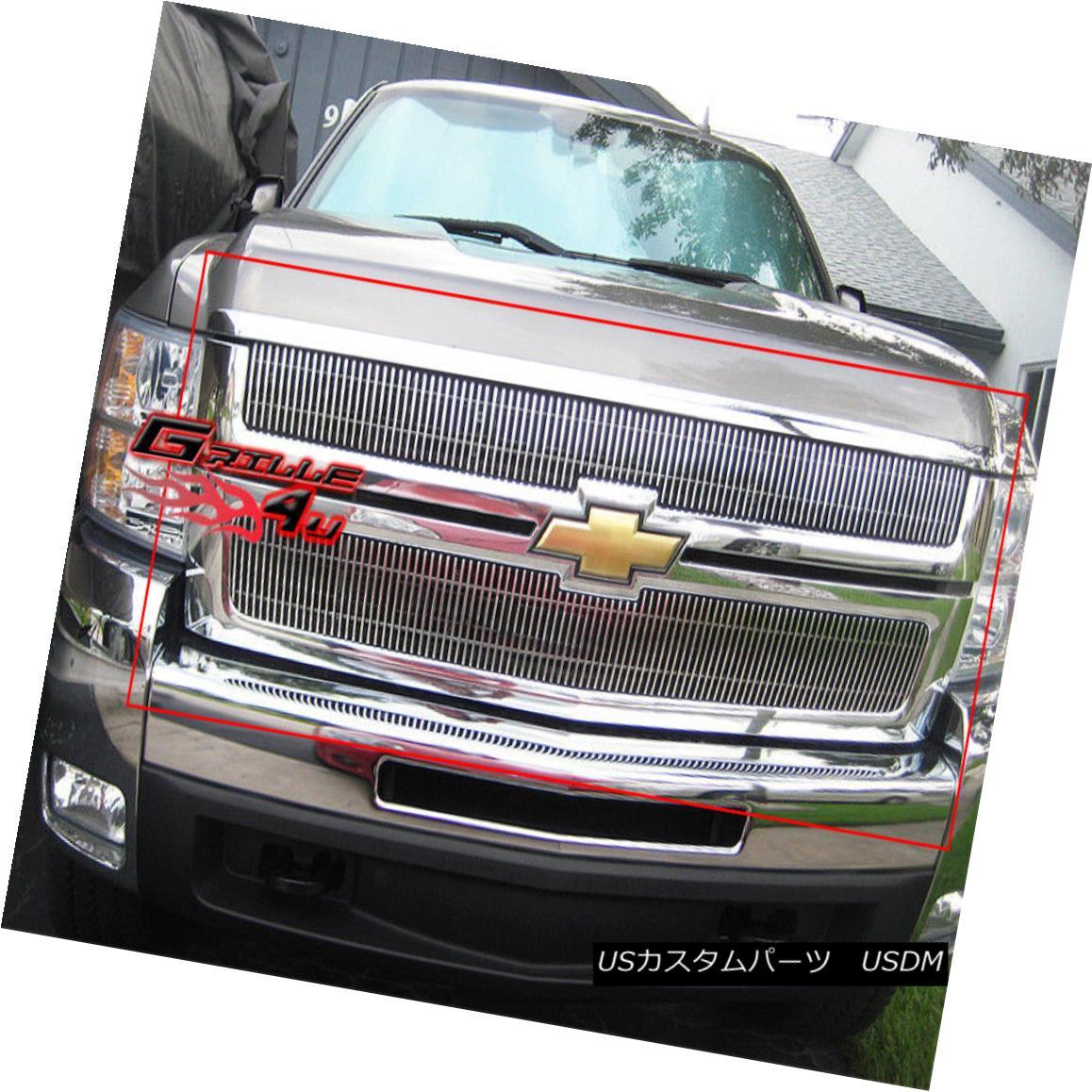 グリル For 07-10 Chevy Silverado 2500/3500 Billet Grille Insert 07-10 Chevy Silverado 2500/3500ビレットグリルインサート用