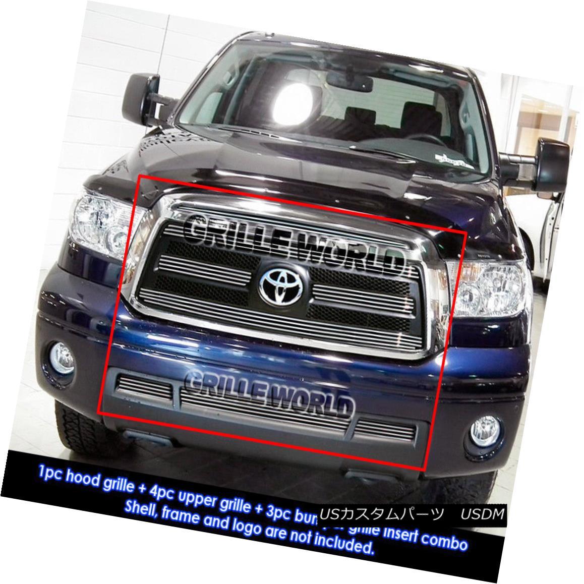 グリル For 2010-2012 Toyota Tundra Billet Grille Grill Combo Insert 2010-2012トヨタトンドラビレットグリルグリルコンボインサート