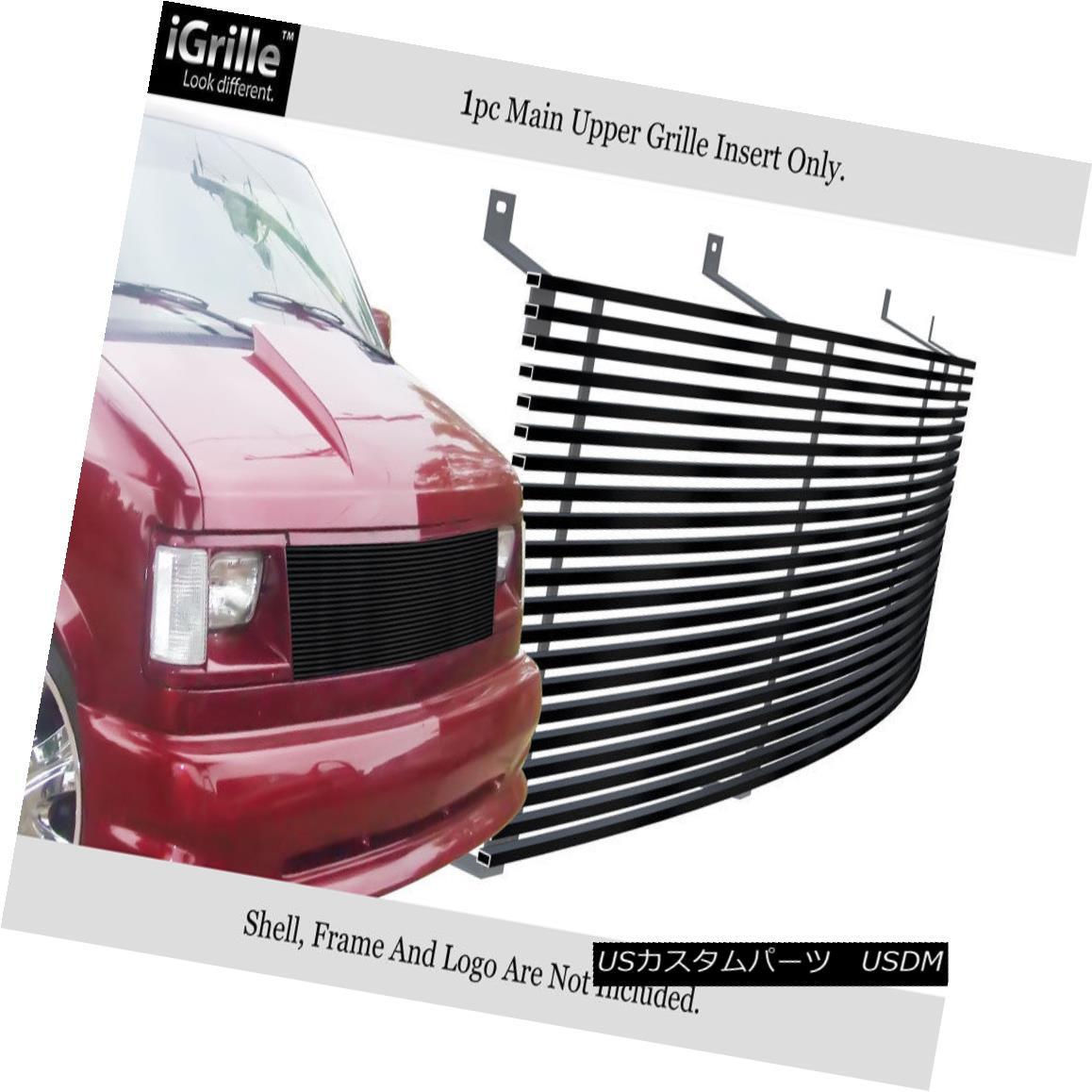 グリル Fits 85-94 Chevy Astro Van/ GMC Safari Van Black Stainless Steel Billet Grille フィット85-94チェビーアストロバン/ GMCサファリヴァンブラックステンレス鋼ビレットグリル