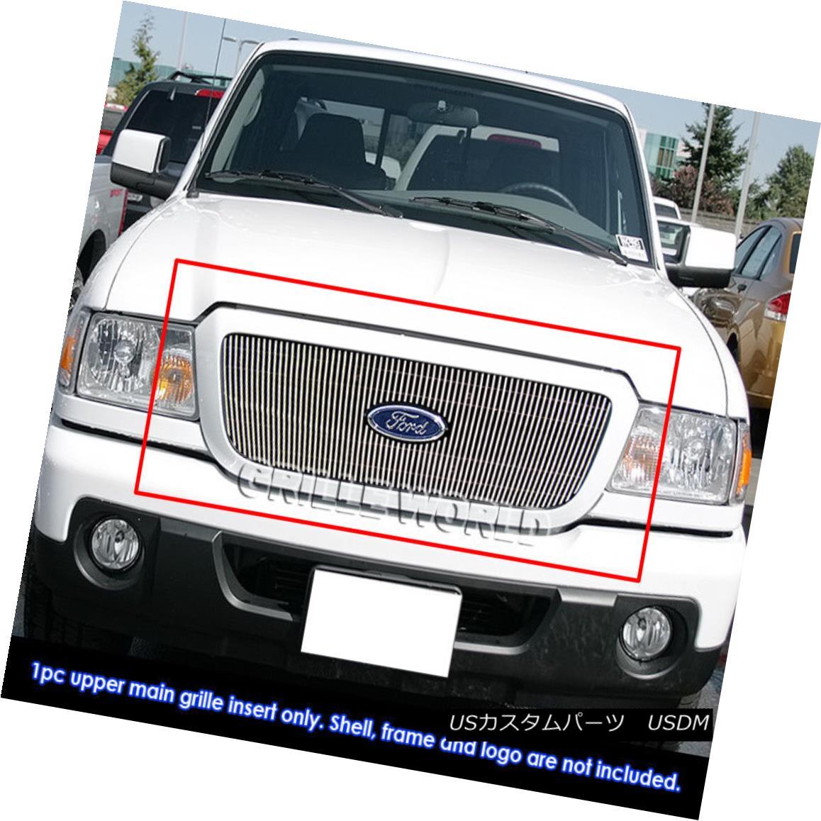 グリル For 2006-2012 Ford Ranger STX/Ranger Sport Vertical Billet Grille Grill Insert 2006?2012年フォードレンジャーSTX /レンジャースポーツ垂直ビレットグリルグリルインサート