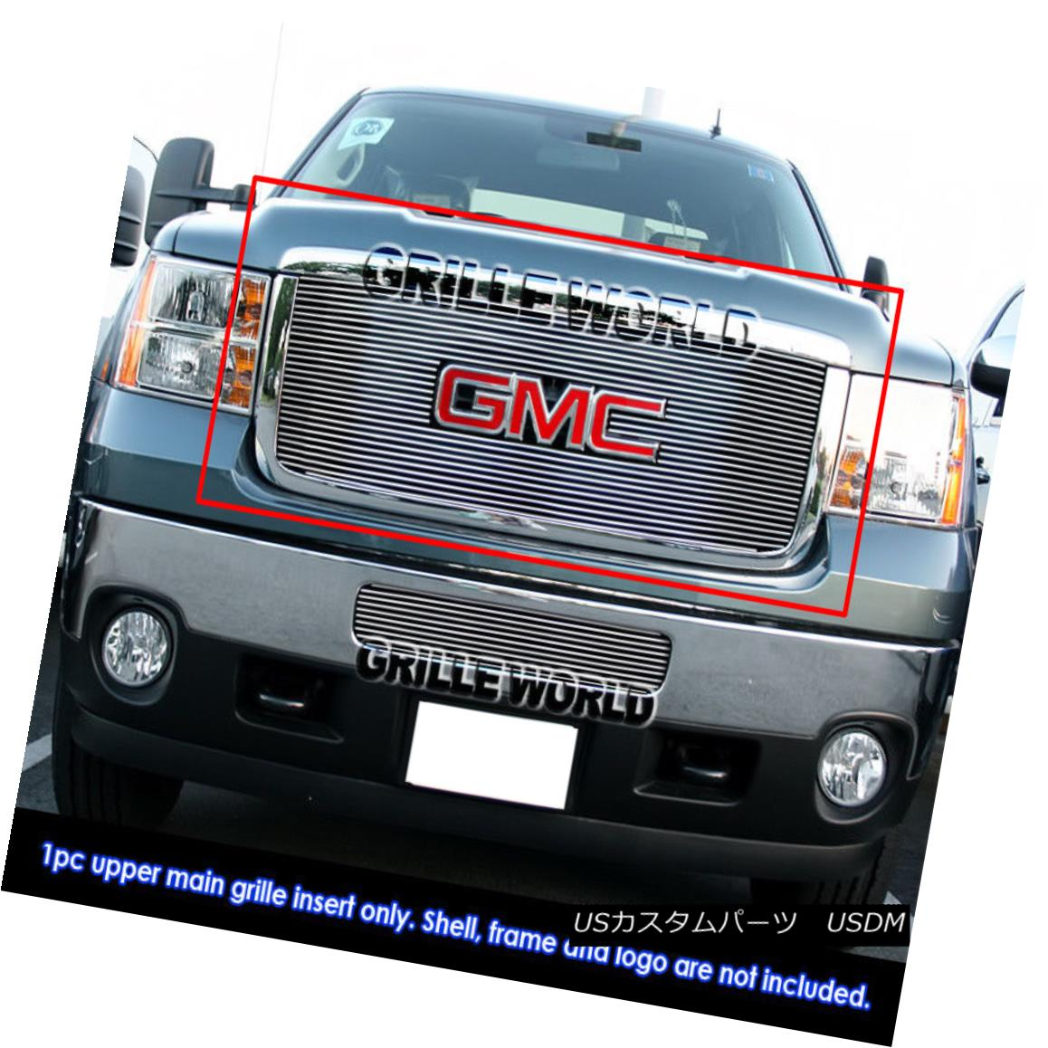 グリル For 2011-2014 GMC Sierra 2500HD/3500HD Billet Grille Grill Insert 2011-2014 GMC Sierra 2500HD / 3500HDビレットグリルグリルインサート