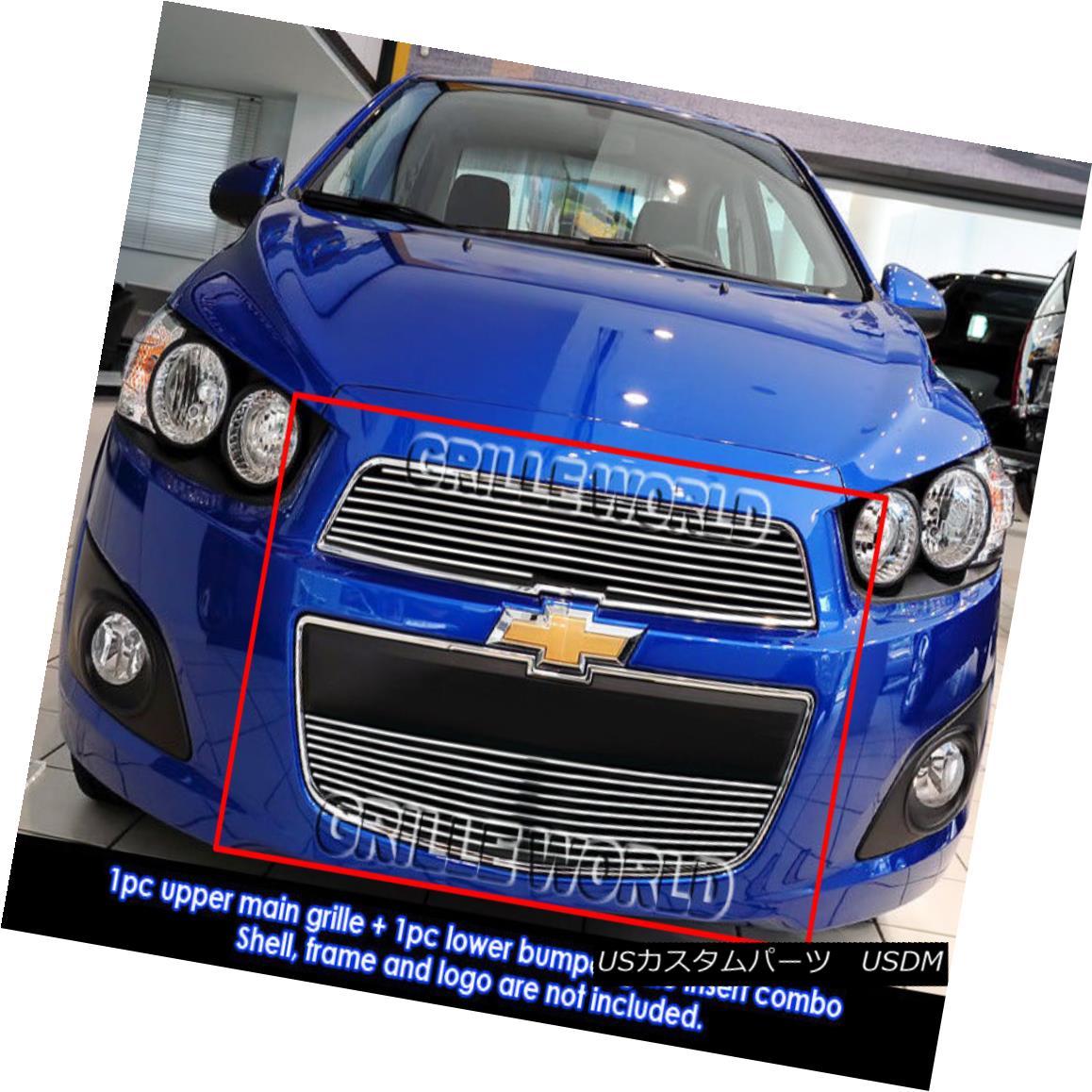 グリル Fits 2012-2016 Chevy Sonic Billet Grille Insert フィット2012-2016シボレーソニックビレットグリルインサート
