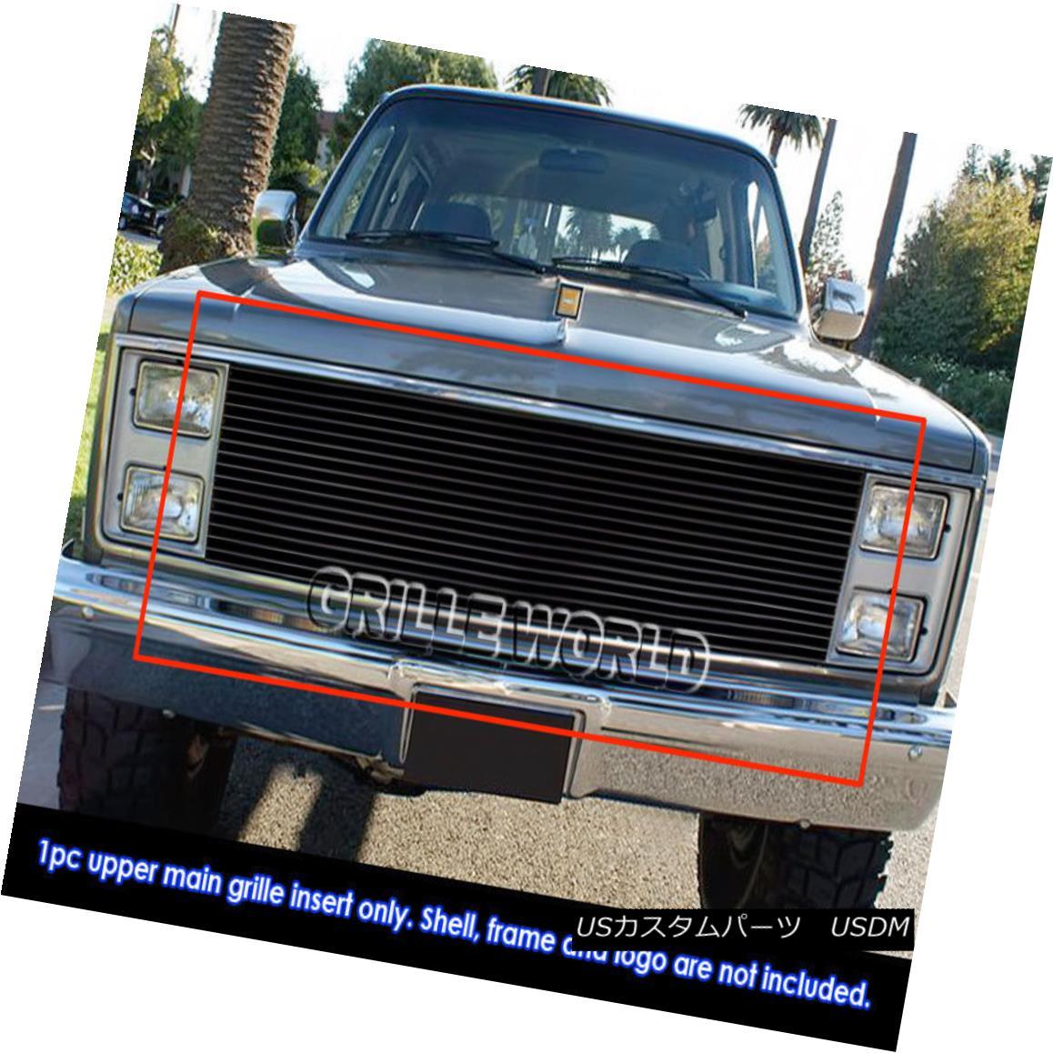 グリル 81-87 Chevy Blazer/C/K Pickup/Suburban/GMC Jimmy Black Billet Grille Insert 81-87 Chevy Blazer / C / K Pickup / Suburba n / GMC Jimmy Black Billet Grille Insert