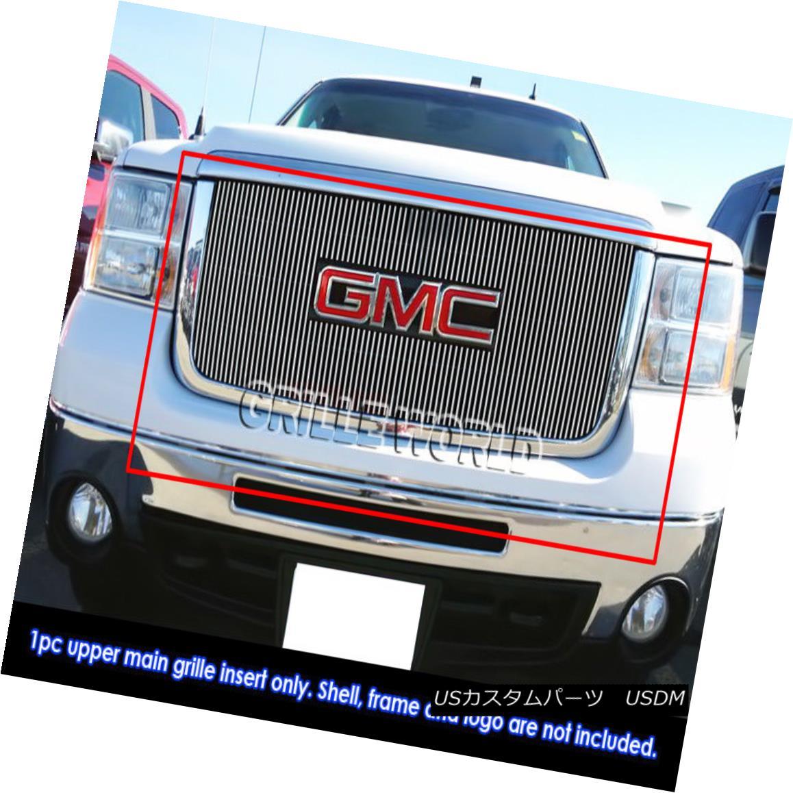 グリル For 07-10 GMC Sierra 2500/3500/HD Vertical Billet Grille 07-10 GMC Sierra 2500/3500 / HD縦型ビレットグリル用