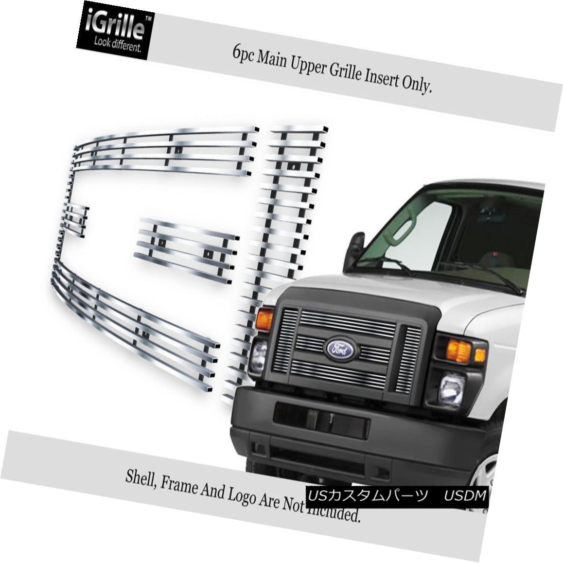 グリル Fits 2008-2013 Ford Econoline Van/E-Series Stainless Steel Billet Grille 2008-2013 Ford Econoline Van / Eシリーズステンレス鋼ビレットグリルに適合